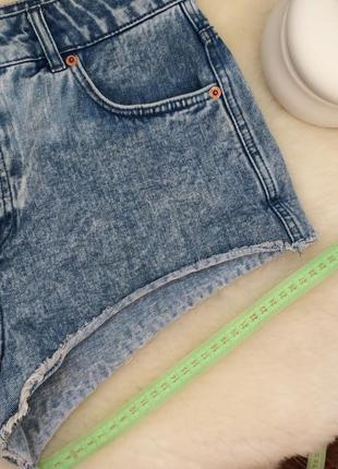 Стильные джинсовые шорты(высокая посадка)