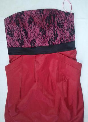 Шикарное платье бюстье гипюр