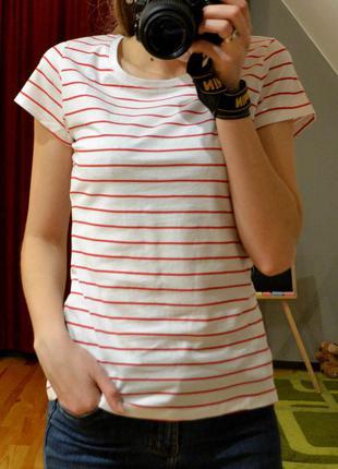 """Футболка в полоску, довга футболка, морячка, 100% cotton, розміри m, l, xl, бренд """"glo-story"""""""