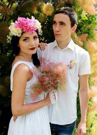 Белоснежное платье в пол