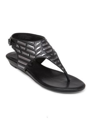 Bcbgeneration оригинал сандалии босоножки римлянки черные с серебристым декором