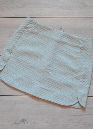 Фактурная юбка с карманами topshop нежно голубого цвета