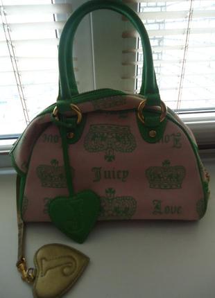 Juicy couture яркая сумочка