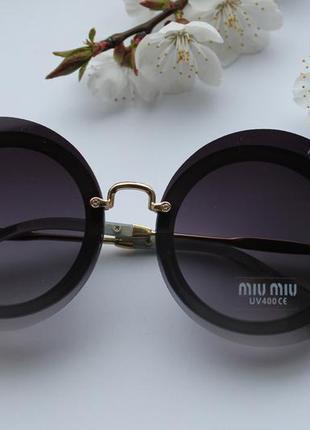 Новые модные очки круглые, черные, новинка 2017