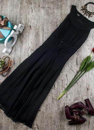 Платье шелковое вечернее (коктейльное)черное от hobbs