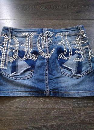 Юбка мини джинсовая philipp plein