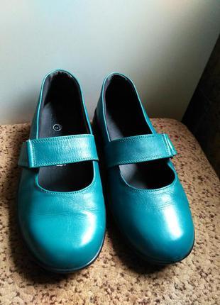 Кожаный туфель макасины комфорт