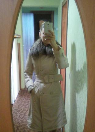 Утепленный плащ (пальто)