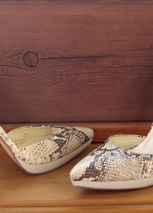 Roberto della croce туфли под  змею,кожа натуральная полность,36