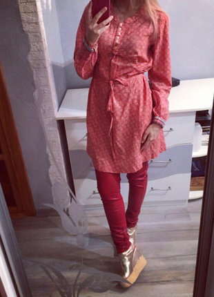 Брендовая рубашка - платье миди от marc o'polo