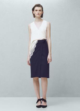 Стильная юбка миди с высоким разрезом kookaï