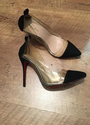 Туфли замша+ силикон