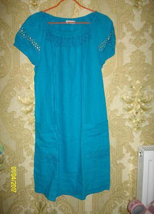 Новое платье ruta-s лён+хлопок р.44-46