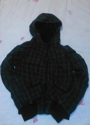 Куртка в клетку с капюшоном miss selfridge осень-весна