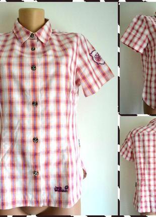 Jack wolfskin ® легкая  треккинговая рубашка размер m