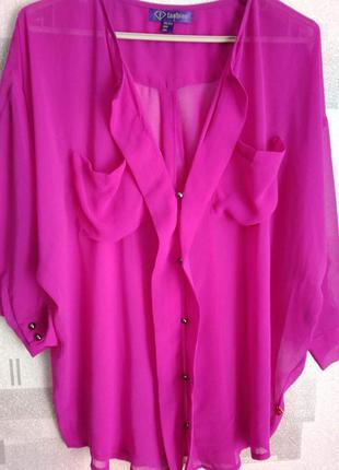 Очень красивая блуза цвета фуксии