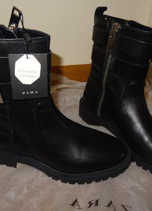 Супер крутые кожаные ботинки zara