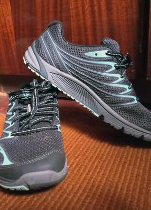 Оригинал кроссовки merrell bare access arc 4 women`s running shoes черный/голубой