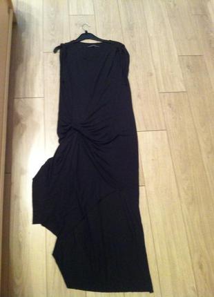 Тонкое трикотажное платье с ангорой s