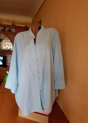 Голубой блузончик  60-66р