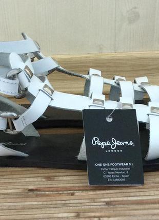 Босоножки белые pepe jeans-супер sale за 650 грн!