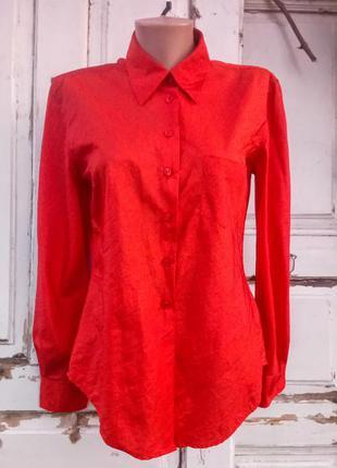 Ярко оранжевая рубашка armani jeans