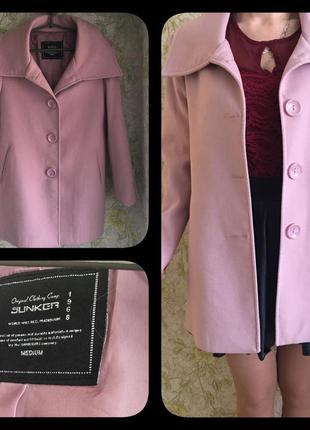 Красивое пальто цвет пудра