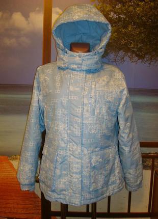 Теплая, утепленная, зимняя термо-куртка р.12