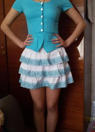 Берюзове плаття