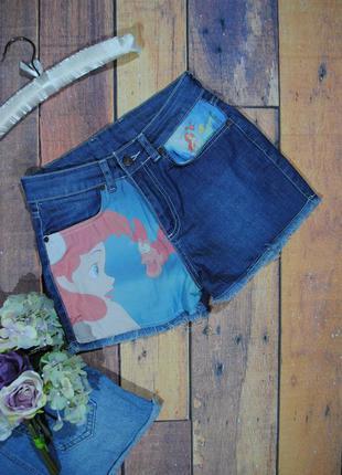 Скидка 30% на все вещи! крутые джинсовые шорты с высокой талией размер uk10 (s/m)