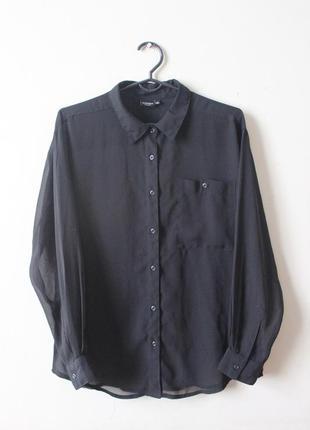 Чёрная шифоновая блузка