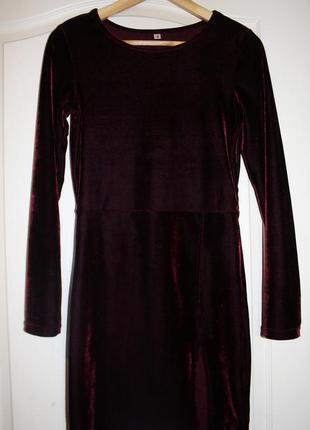 Платье  велюр shein