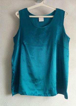 Стильна класична атласна блуза благородного кольору
