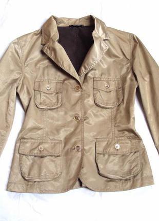 Пиджак цвет легкий беж с золотым отливом,оригинал,denny rose,