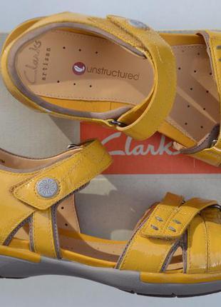 Кожаные босоножки clarks 36.5,  37