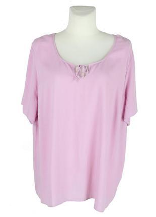 Розовая блуза с завязками