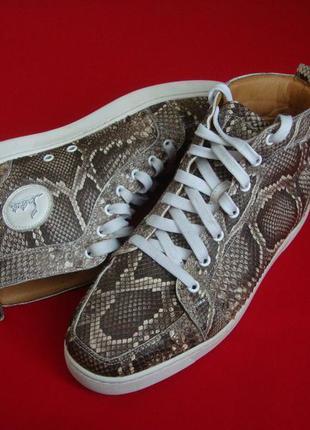 Ботинки christian louboutin натур кожа 43 размер