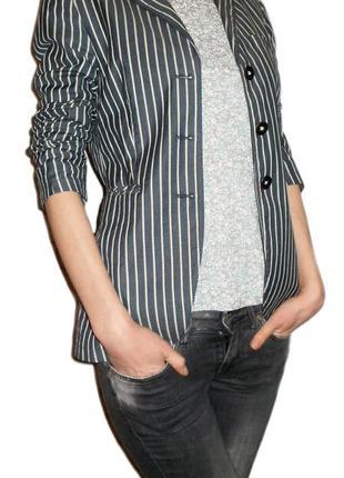Модный полосатый пиджак жакет marc o'polo, блейзер в полоску размер 36-38