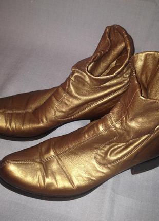Ботинки демисезонные цвет золото