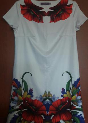 Платье с маками