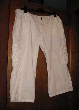 Белые брендовые брюки капри бриджи-р 18