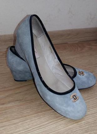 Замшевые туфельки для золушки 35 р-р