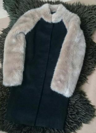 Пальто topshop, шерсть + мохер