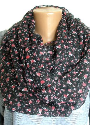 Красивый снуд-хомут, шарф - 170х53см - ,с биркой, доставка бесплатно