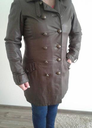 Шкіряне пальто  від  pepe jeans