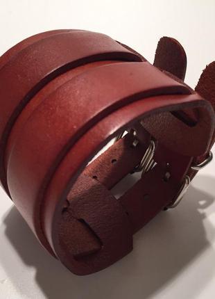 Крутой кожаный браслет из итальянской коллекции