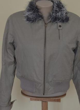 Модная меховая курточка, верх котон