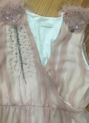 Нежно розовое платье justor
