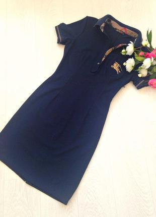 Платье поло синее
