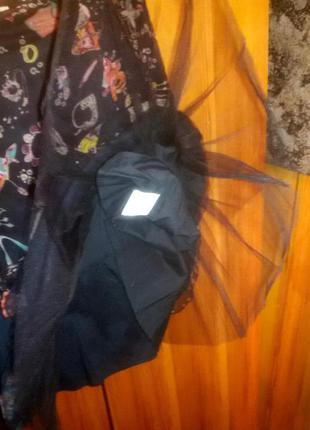 Необычная,стильная юбка-полупачка essentiel, оригинал, шелк